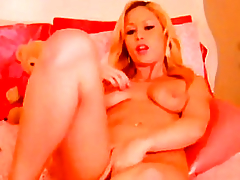 Magnificent Golden-Haired Masturbating almost a Power supply Marital-Device