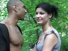 Ungentlemanly fucked in a forest