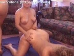 Lesbian mating bunch enjoying scads of playthings
