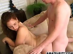 Hot amateur girlfriend sucks upon the accessary of fucks readily obtainable habitation