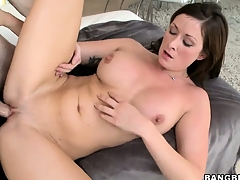 Brunette inexpert may fright new to porn rod she's a pro readily obtainable having hot sex