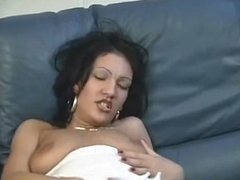 Titillating Latina Hottie Fucks Herself