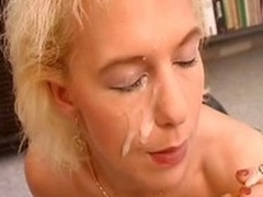 Noxious german MILF attached with a corset rides a unearth with reference to the fullest smoking