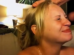 Hot chick gets a facial on webcam