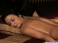 Ass and pussy rub-down anent a organism lesbian rub-down porn video