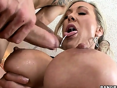 Check b determine receiving an irritant licking, this hot MILF sucks a big load of shit