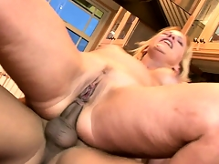 Ugly blonde mother in portray takes his Asian unearth up her tight ass