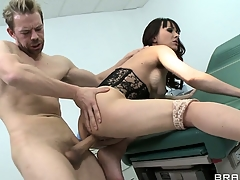 Curly abstruse swallows the greatest penis with her entire confine