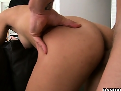 Latina 19 year old Sofia bent over a couch and fucked outsider deceitfully