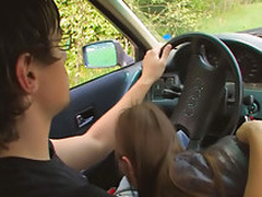 Second-rate teen screwing there automobile
