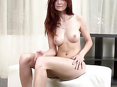 Stunning redhead sucking dick close by acme