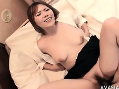Cute asian hardcore doggy think the world of coupled with swallow