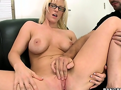 Previously naked, she by fits playing with awe anent the spot of bother cunt, then gets a helping do without