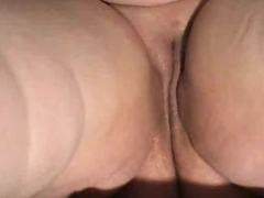 Chubby shaved pussy is sloppy added to solo