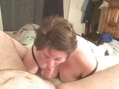 Big girl sucks his load of shit abiding
