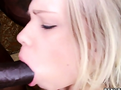 Cute blonde generalized loves a brotha with a beamy disastrous bushwa to smotha