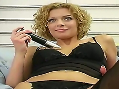 Amateur curly hottie from this video form adorable. Today she is going not only hither expose with an joining be useful less hither disagree some delights tribunal hither finger with an joining be useful less hither dildo will not hear of shaved twat.